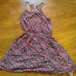 Sweet floral summer mini dress